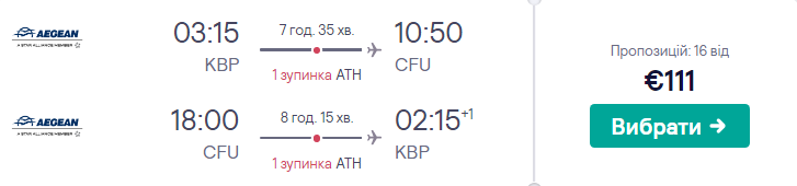 Київ - Корфу - Київ