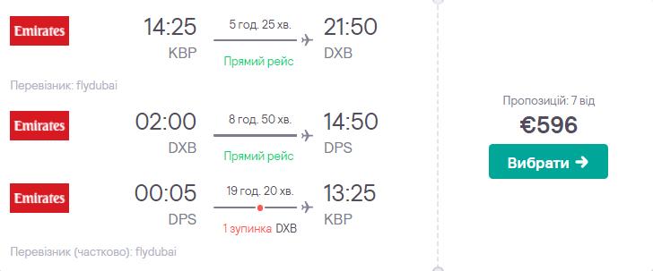 Київ - Дубай - Балі - Київ