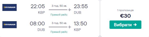 Київ - Дублін - Київ