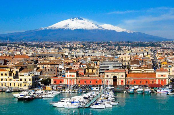 Італія Сицилія Катанія Етна
