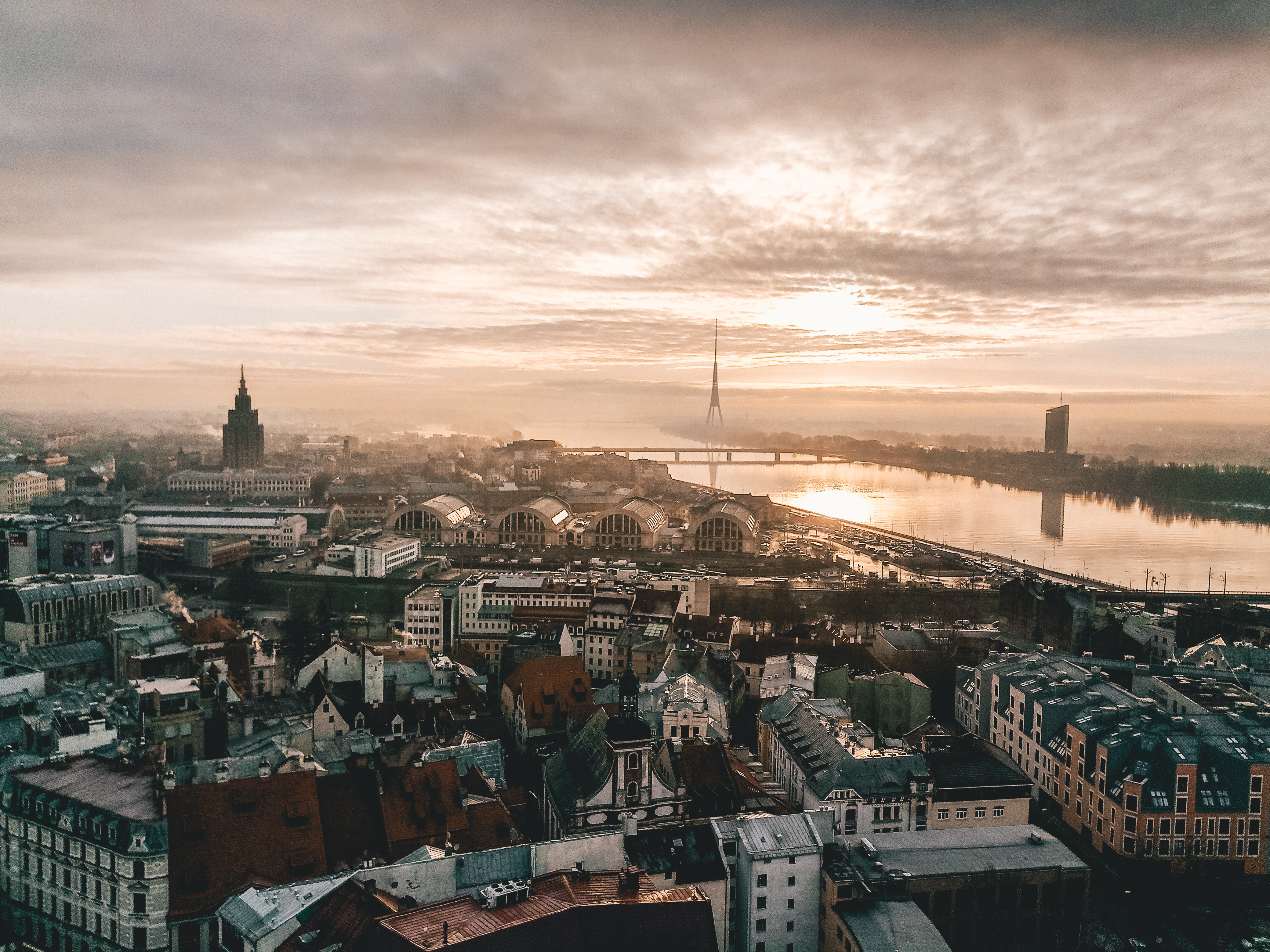 рига панорама міста