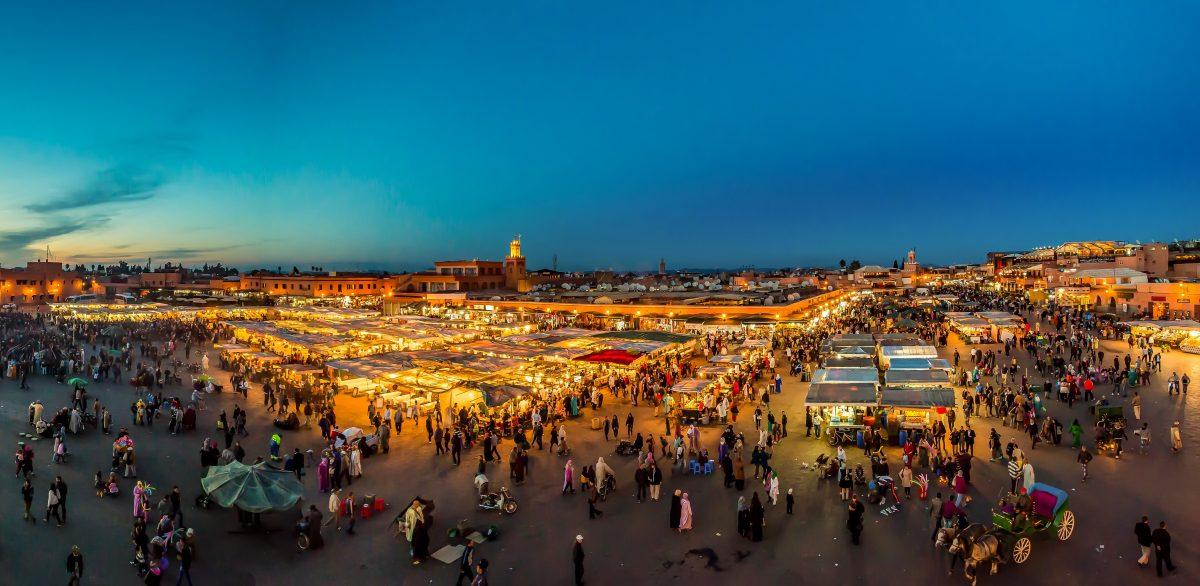марракеш панорама міста вночі