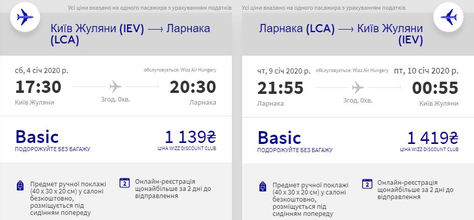 Київ - Ларнака - Київ