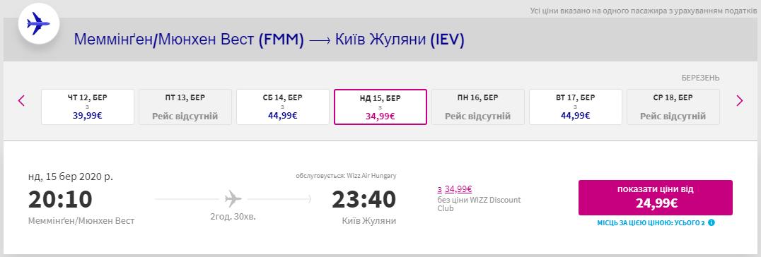 Меммінген - Київ
