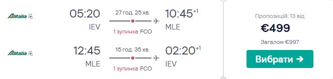 Київ - Мале -Київ >>