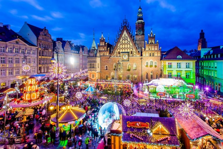 Польща різдвяні ярмарки вроцлав