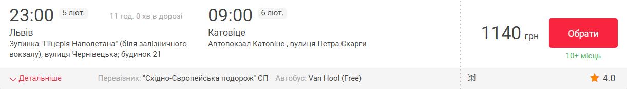 Львів - Катовіце