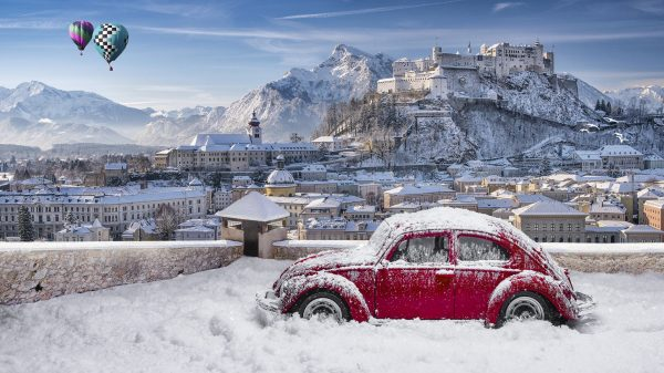 зальцбург зима машина