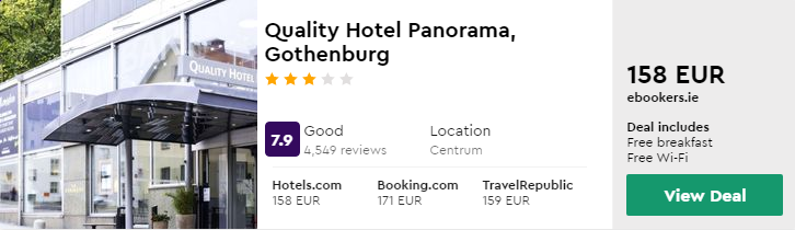 Quality Hotel Panorama, Gothenburg