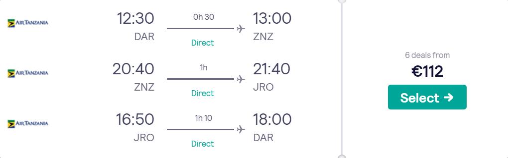Дар-ес-Салам - Занзібар -Кіліманджаро - Дар-ес-Салам