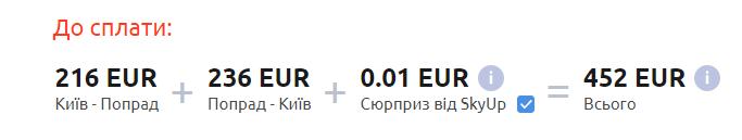 Київ – Попрад – Київ >>