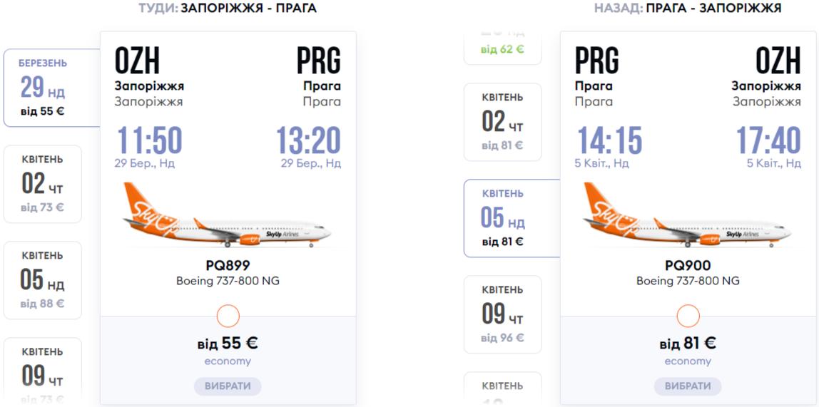 Рейси SkyUp Airlines