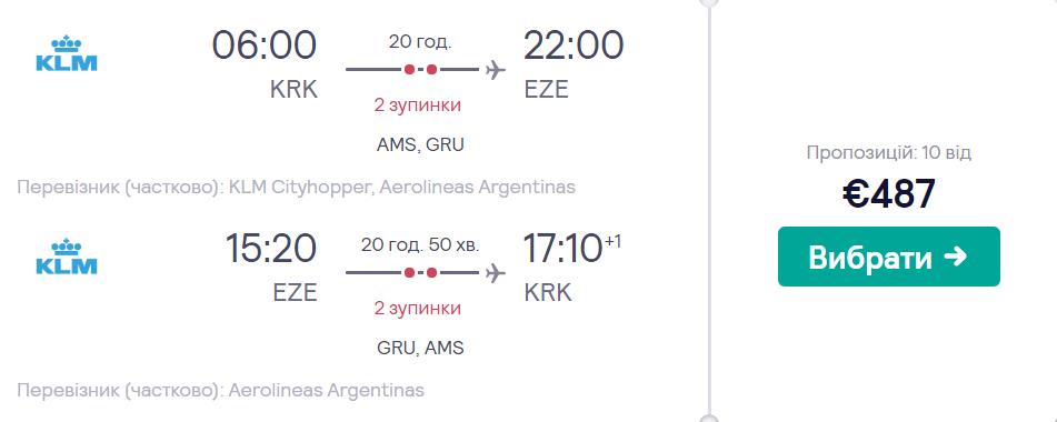 Краків – Буенос-Айрес –Краків >>