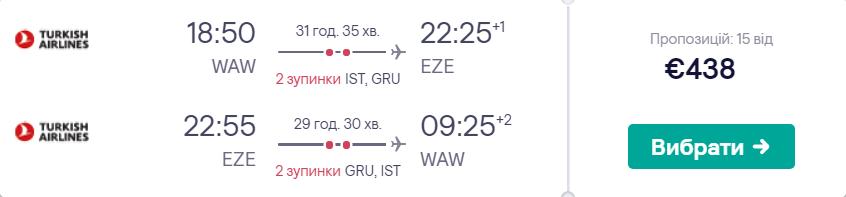 Варшава - Буенос-Айрес - Варшава