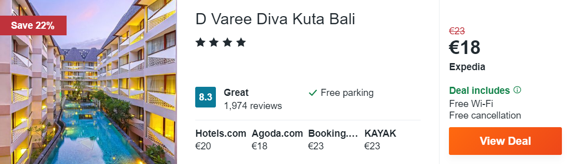 D Varee Diva Kuta Bali