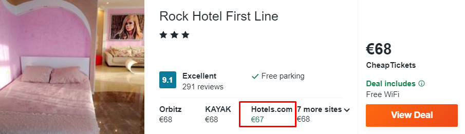 Rock Hotel First Line