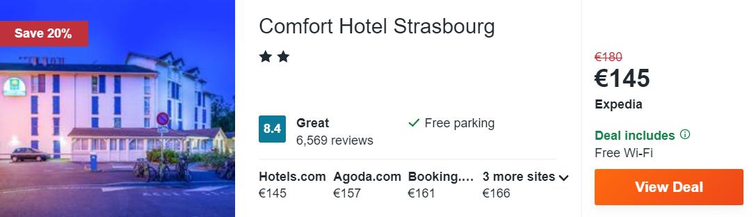 Comfort Hotel Strasbourg