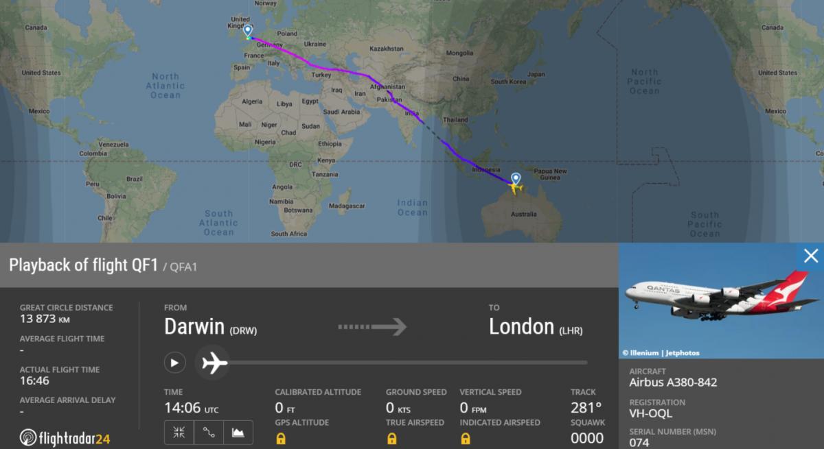 Рейс Qantas