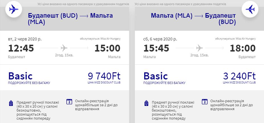 Будапешт – Мальта– Будапешт