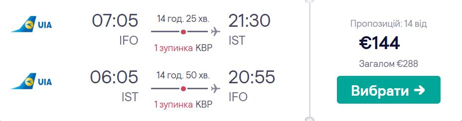 Івано-Франківськ - Стамбул - Івано-Франківськ