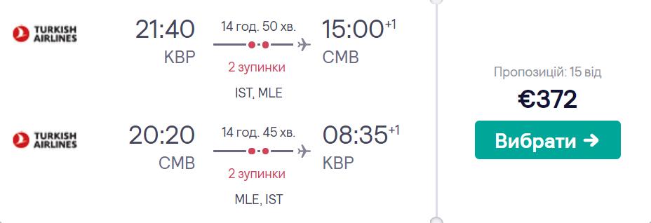 Київ - Коломбо - Київ