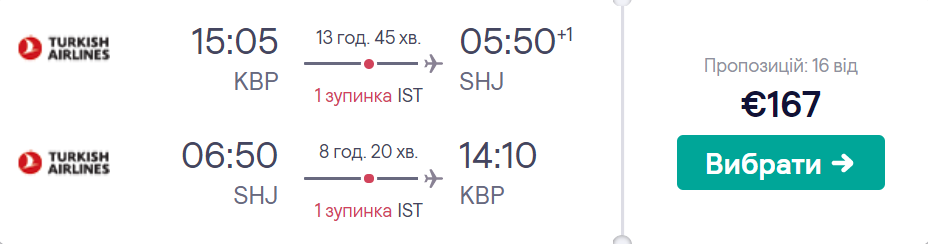 Київ - Шарджа - Київ