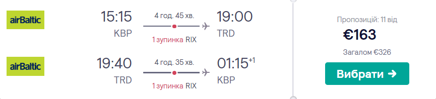 Київ – Тронгейм – Київ
