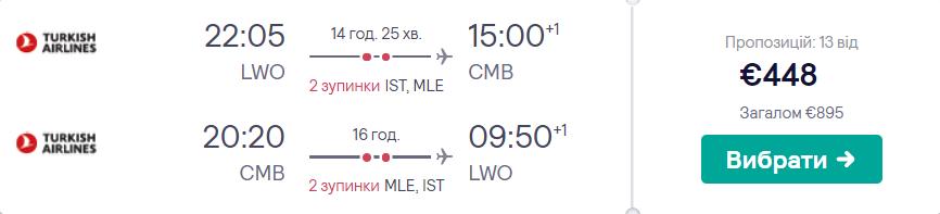 Львів - Коломбо - Львів