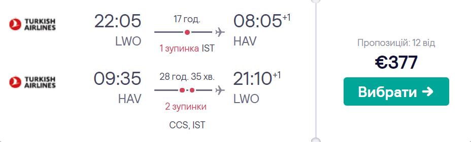 Львів - Гавана - Львів