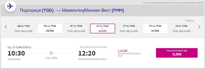 Подгориця – Меммінген