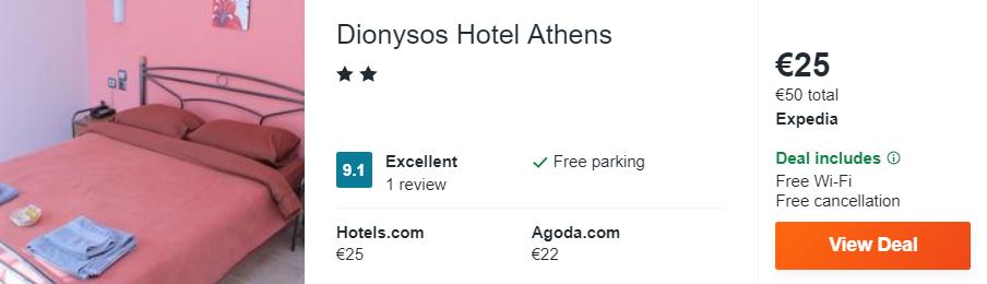 Dionysos Hotel Athens