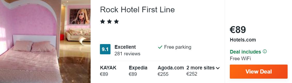 Rock Hotel First Line