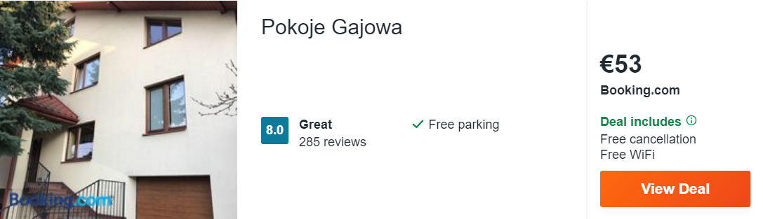 Pokoje Gajowa