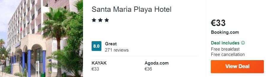 Santa Maria Playa Hotel