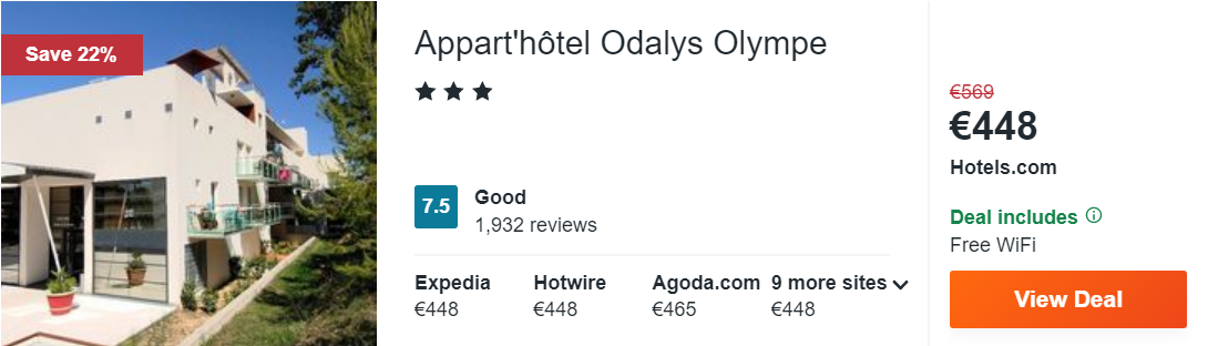 Appart'hôtel Odalys Olympe