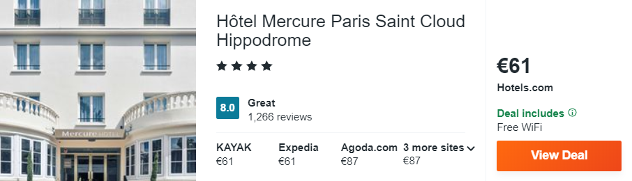 Hôtel Mercure Paris Saint Cloud Hippodrome