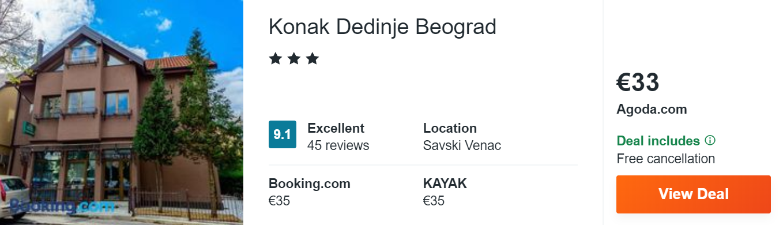 Konak Dedinje Beograd