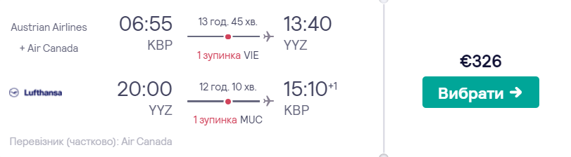 Київ -Торонто - Київ