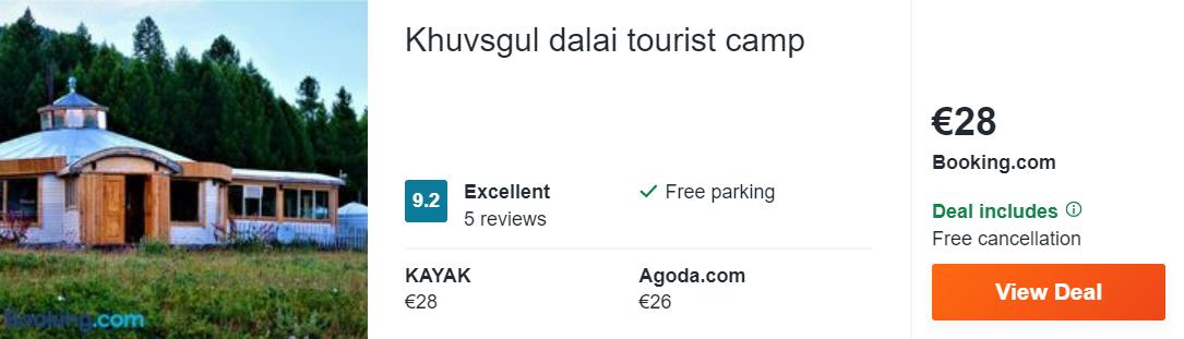 Khuvsgul dalai tourist camp