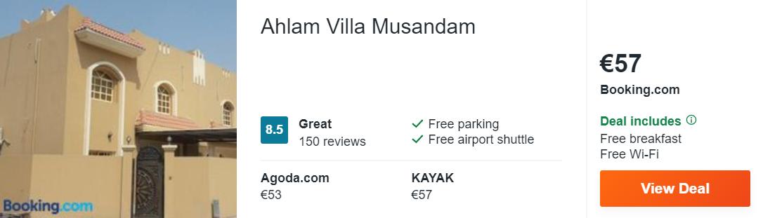 Ahlam Villa Musandam