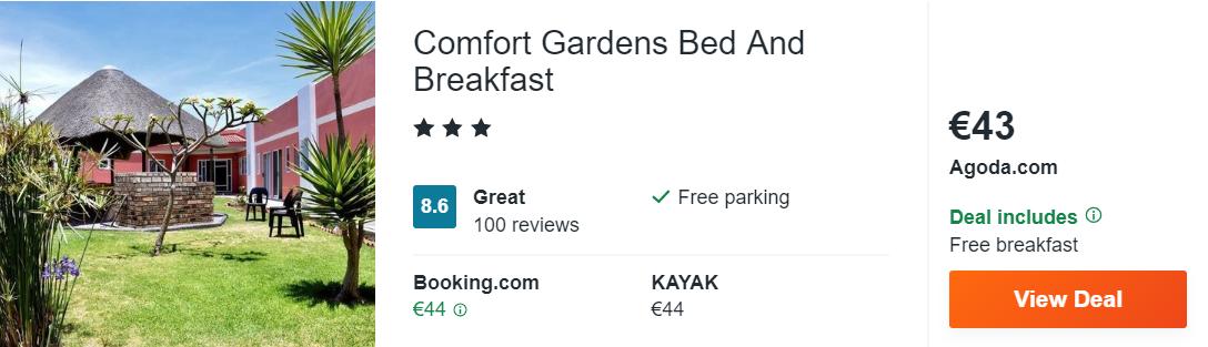 Comfort Gardens Bed And Breakfast