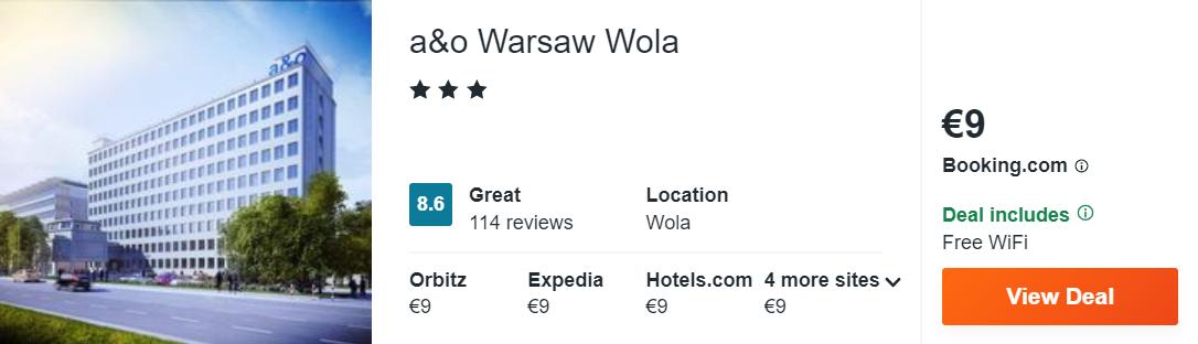 a&o Warsaw Wola