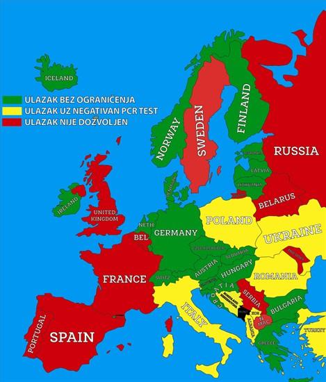 Карта уряду Чорногорії