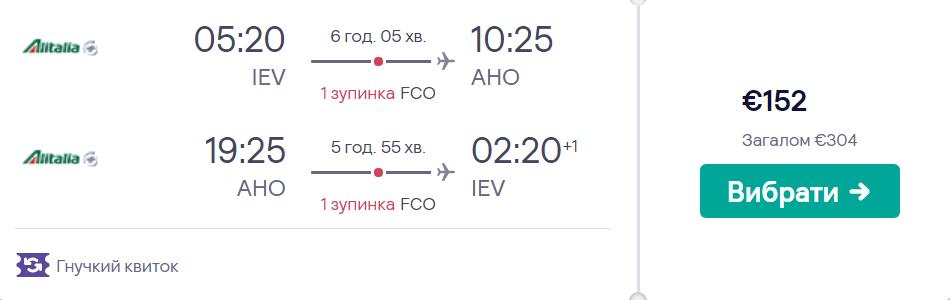Київ - Альгеро - Київ >>