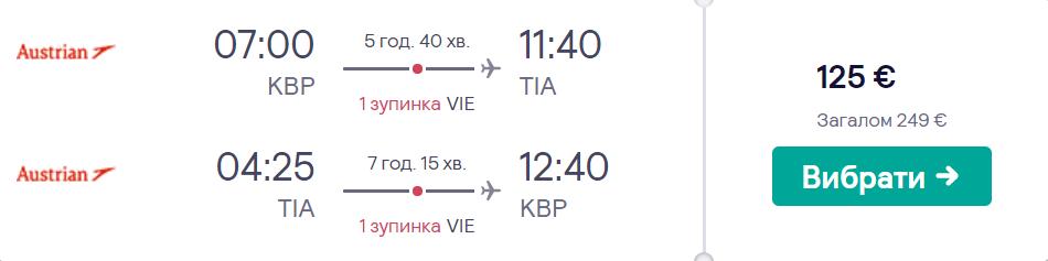 Київ - Тирана - Київ >>