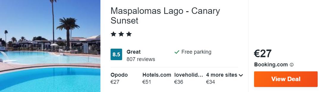Maspalomas Lago - Canary Sunset