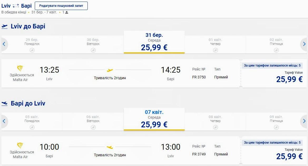 Рейси Ryanair