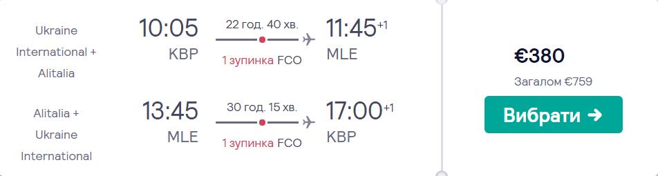 Київ – Мале – Київ >>