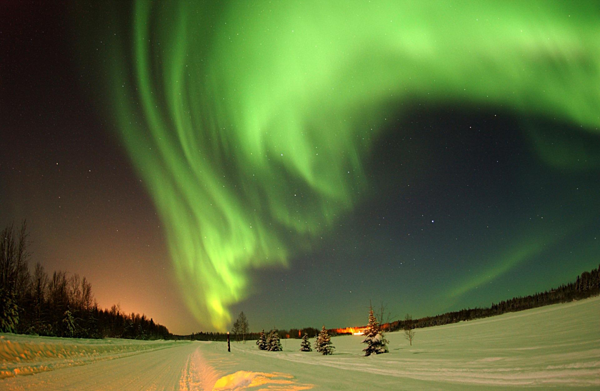США Аляска Північне сяйво