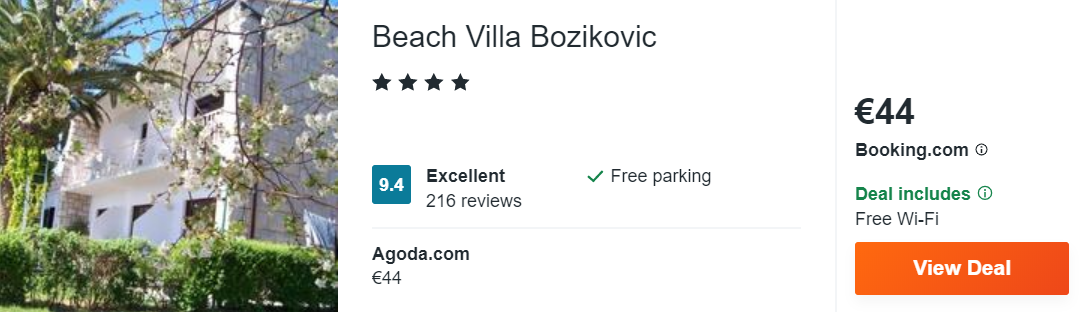 Beach Villa Bozikovic